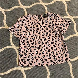 W5 Tops - W5 Leopard Print Black and Pink Top Size Medium